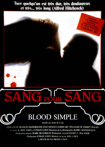 Sang pour sang Blood Simple 1983 real: Joel Coen Frances McDormand COLLECTION CHRISTOPHEL