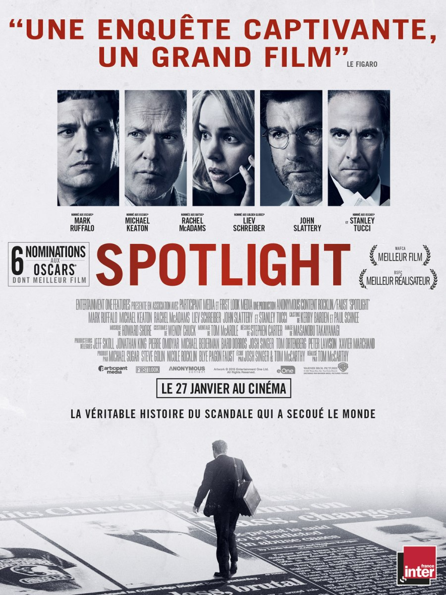 """Spotlight"" de Tom McCarthy - La Chronique qui investigue !"