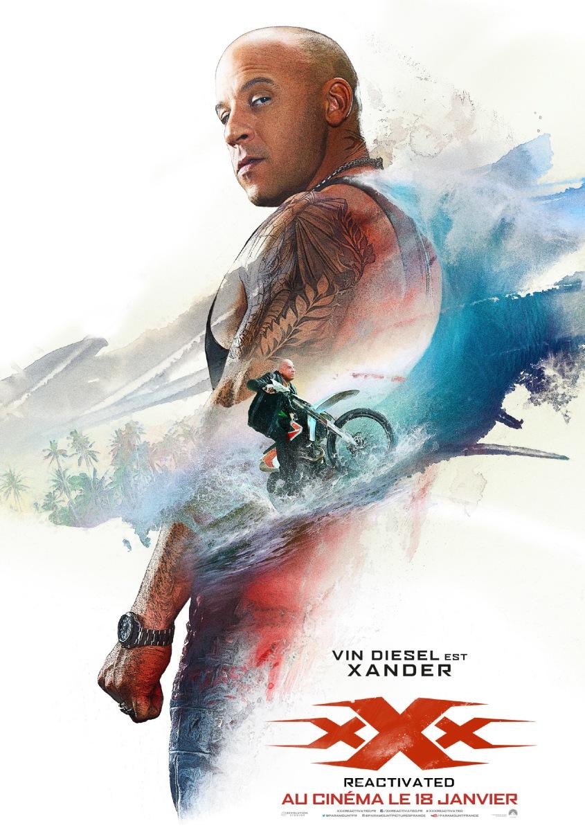 """Infos Ciné """"xXx Reactivated"""" : La bande-annonce aux 100 Millions de vues, le Facebook Live et les nouvelles affiches !"""