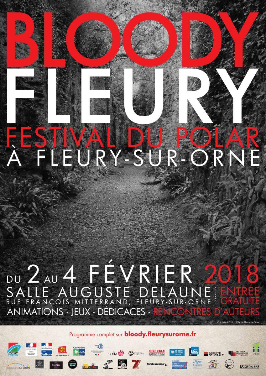 """News Salon : """"Bloody Fleury 2018"""" du 2 au 4 février : le salon du polar servi bien saignant !"""